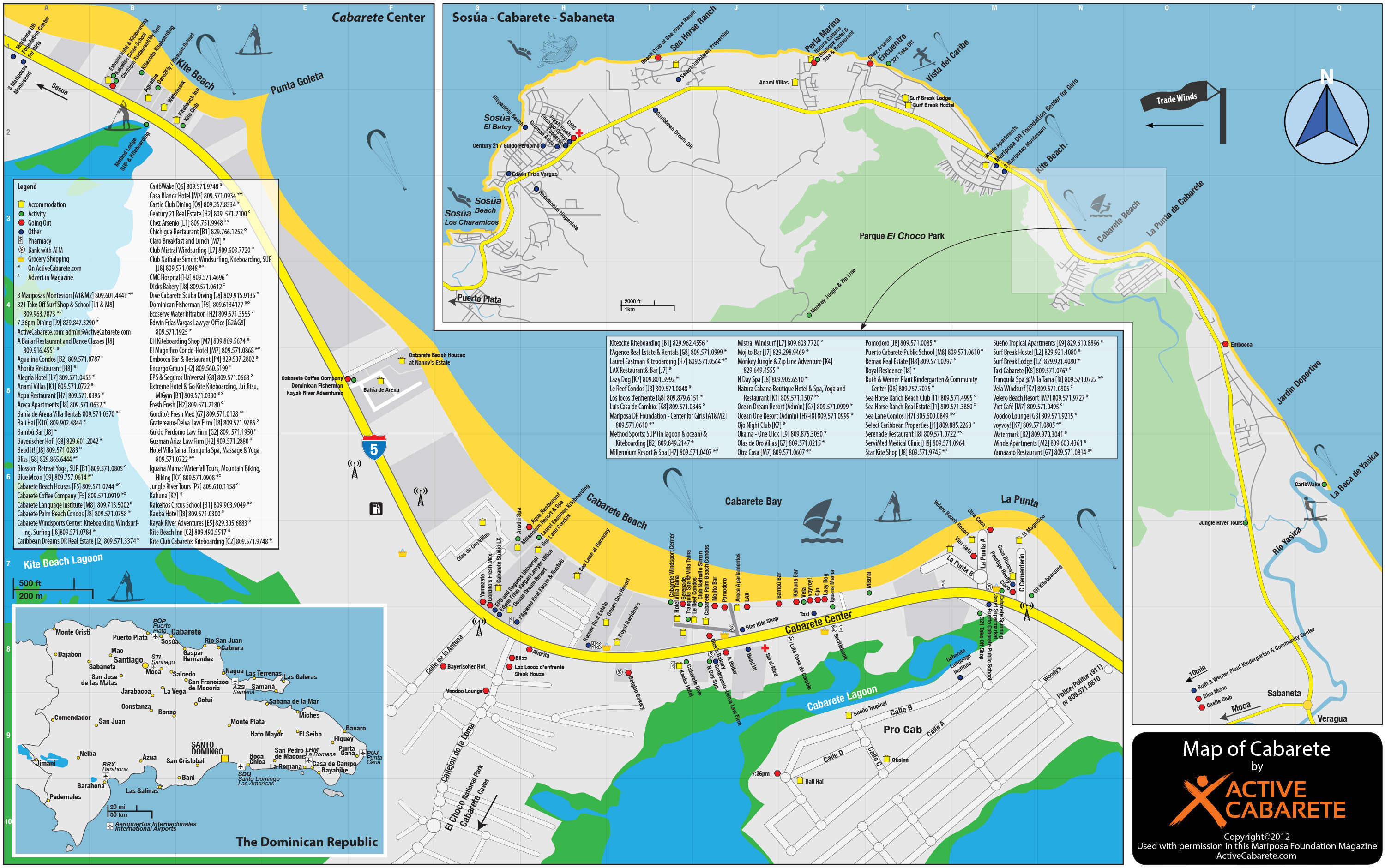 Active Cabarete  Maps of Cabarete Dominican Republic