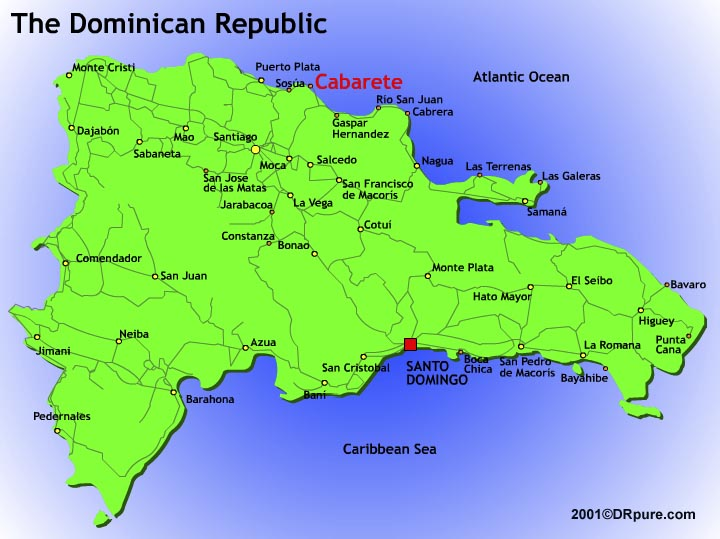 Political Physical Map Of The Dominican Republic Diagrams Free